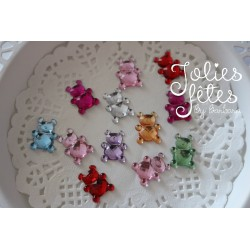 strass ourson à coller scrapbooking