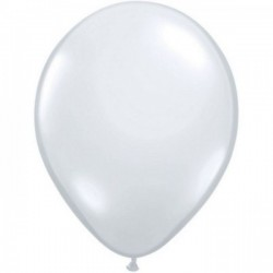 ballon opaque blanc 30 cm lot de 50 ballons