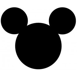 personnage mickey - très grand mickey noir